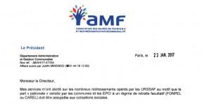 Courrier de saisine adressé par François Baroin à Yann-Gaël Amghar, directeur de l'ACOSS, relatif aux redressements opérés par les Urssaf sur les cotisations sociales des élus locaux