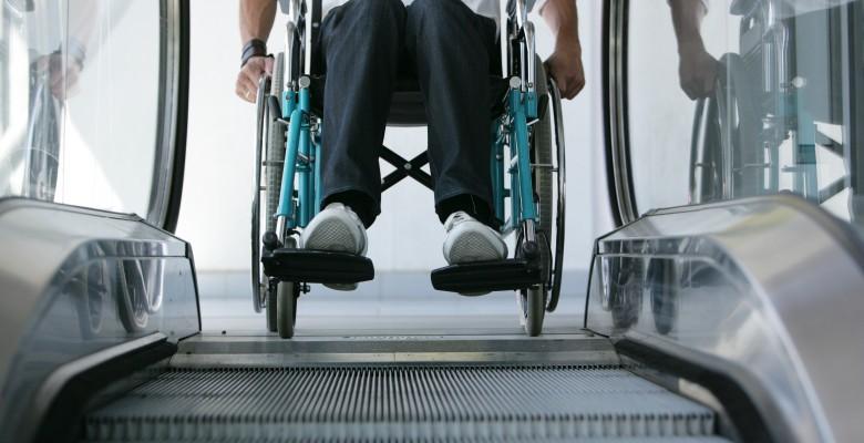 Handicap escalier mcanique
