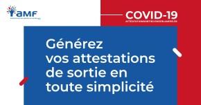 Générez facilement vos attestations de déplacements dérogatoires COVID-19